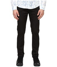 Armani Jeans Slim Fit Button Fly Jeans In Black