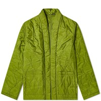 Sophnet. Quilting Shirt Cardigan Green