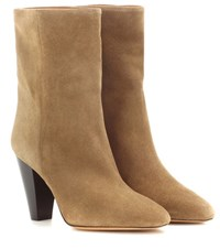Isabel Marant Etoile Darilay Suede Ankle Boots Brown