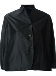 Aspesi Buttoned Cropped Jacket Black