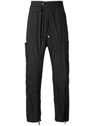 Tom Rebl Panelled Zip Trousers Men Polyester 46 Black