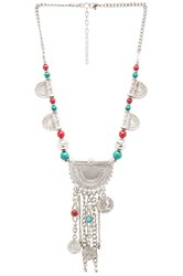 Raga Coin And Fringe Necklace Metallic Silver