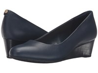 Clarks Vendra Bloom Navy Leather Women's Shoes Blue