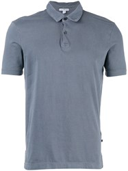 James Perse Classic Polo Shirt Blue