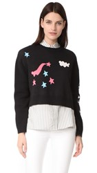 Olympia Le Tan Griffin Sweater Black