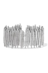 Suzanne Kalan 18 Karat White Gold Diamond Cuff One Size