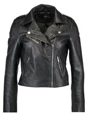 Only Petite Onllou Faux Leather Jacket Black