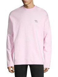 Tee Library Graphic Cotton Sweatshirt Pink
