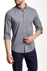 J.Crew Factory Slim Washed Horizontal Micro Stripe Shirt Gray