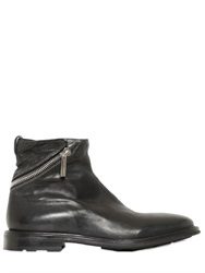 Fratelli Rossetti Hand Braided Zip Up Leather Ankle Boots