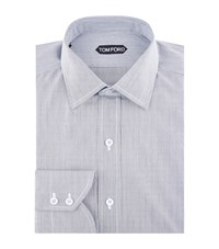 Tom Ford Micro Stripe Shirt Male Grey