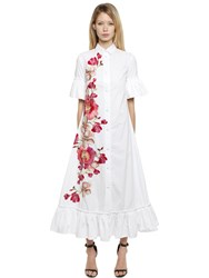 Ainea Hand Embroidered Cotton Shirt Dress