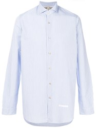 Dnl Striped Classic Shirt Blue