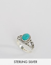 Rock N Rose December Turquoise Birthstone Ring Silver