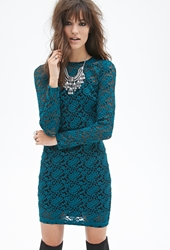Forever 21 Embroidered Floral Lace Dress