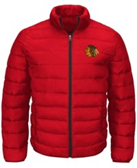 G3 Sports Men's Chicago Blackhawks Skybox Packable Quilted Jacket Black Red