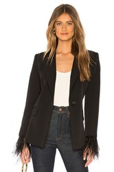 Milly Fitted Blazer Black