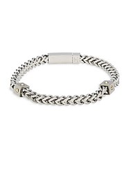 Saks Fifth Avenue 14K Gold Chain Bracelet Silver