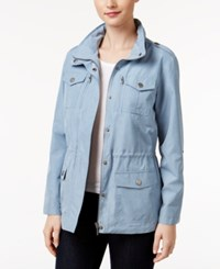 Styleandco. Style Co. Petite Chambray Utility Jacket Only At Macy's Light Chambray