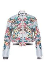 Zuhair Murad Jacquard Bomber Jacket With Striped Elastic Band Print