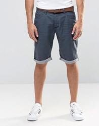 Esprit Chino Shorts With Belt Navy