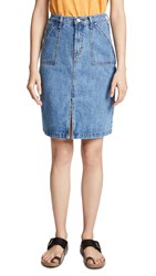 Evidnt Denim Pencil Skirt Fairfax