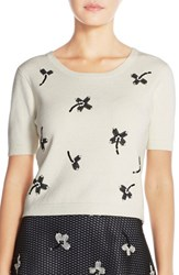 Women's Sachin And Babi Noir 'Kong' Embroidered Knit Top