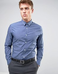 New Look Smart Shirt In Blue In Regular Fit Mid Blue