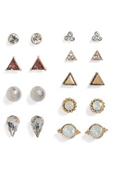 Women's Bp. 12 Pack Geometric Stud Earrings