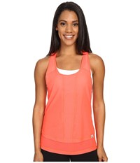 Zobha Cody Mesh Racerback Singlet Firewater Women's Workout Orange