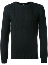 A.P.C. Long Sleeve Ribbed Jumper Men Wool M Blue