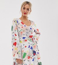 Lily And Lionel Exclusive Micro Mini Dress In Daydream Print Multi