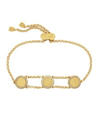 Cole Haan 3 25 Madison Ave Pave Core Pull Tie Bracelet Gold