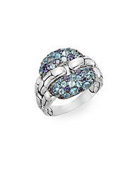 John Hardy Kali Swiss Blue Topaz Iolite And Sterling Silver Ring Silver Blue