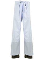 Y Project Layered Trousers Blue