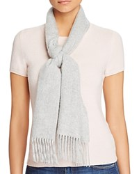 Bloomingdale's C By Solid Cashmere Scarf Pale Gray