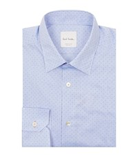 Paul Smith Diamond Polka Dot Printed Shirt Male Light Blue