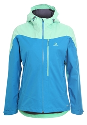 Salomon La Cote Outdoor Jacket Mathyl Blue Lucite Green