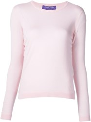 Ralph Lauren Black Label Classic Sweater Pink And Purple