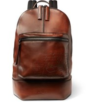 Berluti Volume Small Leather Backpack Tan
