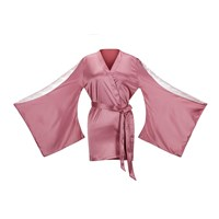 G Love Lingerie Bare Me A Second Peachskin Nippon Dressing Gown Pink Purple Neutrals