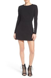 Women's Kendall Kylie Long Sleeve Open Back Sheath Dress Black