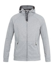Casall M Tech Hooded Zip Through Sweatshirt Grey