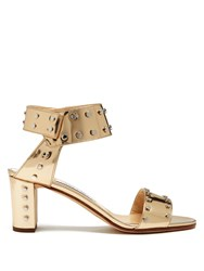 Jimmy Choo Veto 65Mm Studded Leather Sandals Gold
