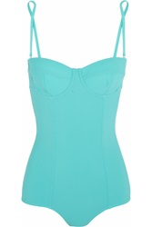 Dolce And Gabbana Padded Underwired Swimsuit Blue