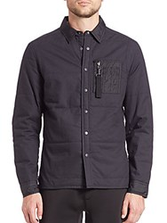 Madison Supply Long Sleeve Cotton Jacket Caviar