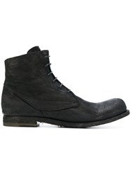 Officine Creative Lace Up Boots Leather Black