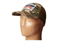 Custom Ketchup Bacon Golf Hat Distressed Camouflage Caps Multi
