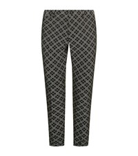 Dolce And Gabbana Floral Jacquard Trousers Male Black