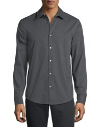 Penguin Heathered Sport Shirt Dark Gray